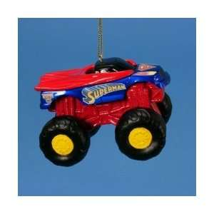 Superman Monster Jam Hot Rod Truck Christmas Ornament