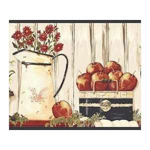 Pitchers with Apples Wallpaper Border: Kitchen & Dining