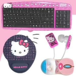 BLK + Hello Kitty In Ear Buds (Pink/White) #11409 HK DavisMAX Bundle