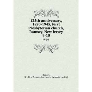 125th anniversary, 1820 1945, First Presbyterian church
