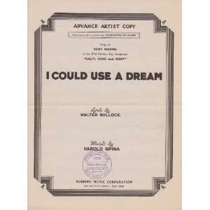 Could Use A Dream   Piano/Vocal   from the 20th Century Fox production