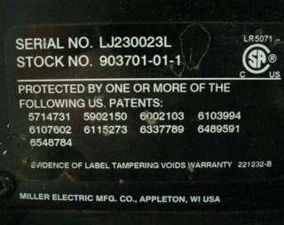 MILLER MAXSTAR 200 AMP PORTABLE WELDER STICK & TIG WELDER + WARRANTY
