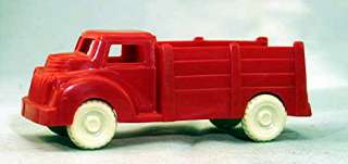 Vintage Red Plastic Art Deco Styled Truck; by Lapin