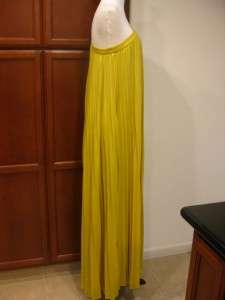 new $298 BCBG MAX AZRIA ABEE PLEATED MAXI One shoulder Spring