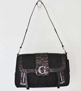 NEW GUESS CONEY ISLAND SHOULDER BAG PURSE HANDBAG BLACK