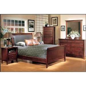 Adonis Furniture City Low Profile Leather Sleigh Bed 5