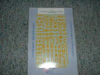 SuperScale Decals 1/72 Luftwaffe Yellow letters num BB