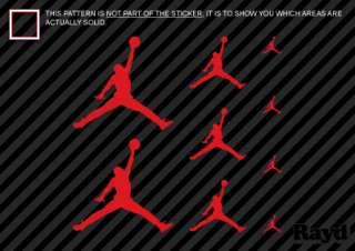 9x) Assorted Red Jumpman Sticker Decal Jordan 8 1.5