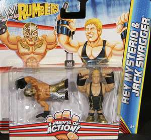 JACK SWAGGER & REY MYSTERIO   WWE RUMBLERS TOY WRESTLING ACTION