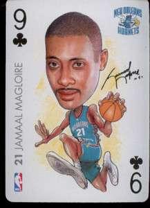 JAMAAL MAGLOIRE   Charlotte Hornets NBA Playing Card   2004 BIG HEAD