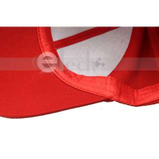 BRAND NEW Fashion Cotton Baseball Cap Hat Red