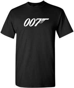 007 James Bond Tshirt Movie Retro logo Tee Funny Shirt