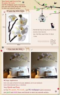 PSS 500 FLOWER HOME WALL ART DECOR DECAL MURAL STICKER