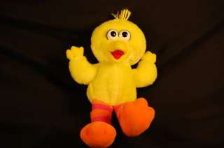 Vintage 12 Plush Talking Giggly Sesame Street Big Bird