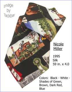 Mens Nicole Miller Horse Racing Silk Dress Tie 221
