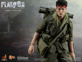Hot Toys Sideshow 12 Inch   PLATOON CHRIS TAYLOR Figure MIB