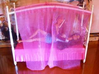 Barbie Doll House Pink 3 Story Dream Townhouse Furniture Canopy Bed