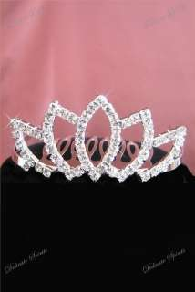Rhinestone Silver Wedding Prom Tiara Flower Girl 120