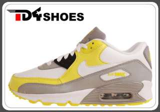 Nike Wmns Air Max 90 White Grey Yellow 2011 New Womens Casual Shoes
