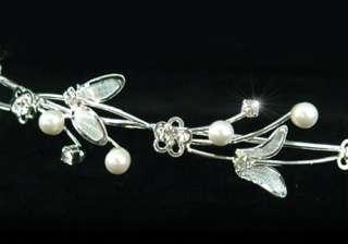 Crystal Faux Pearl Bridal Wedding Headband Tiara T1137