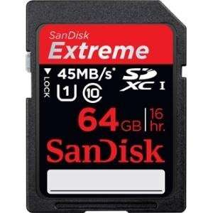 NEW 64GB Extreme SD Card (Flash Memory & Readers) Office