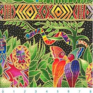 45 Wide Laurel Burch Jungle Songs Secert Jungle Black