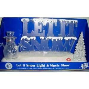 It Snow Light and Music Show Snowman Christmas Tree