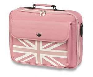Original Pink Union Jack Laptop Case bag fits upto 17.3