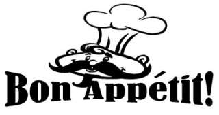 Bon Appetit Wall Quote Home Decor Decal Kitchen Chef NR