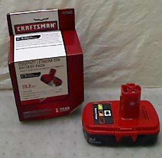 Craftsman 19.2 Volt Compact Lithium Ion Battery Pack 17300
