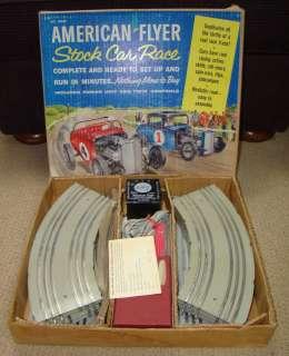 Cars 1960s 1/32 Scale Gilbert American Flyer Stock Car Race Set 19060