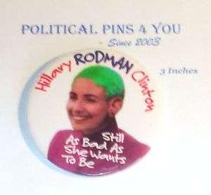HILLARY CLINTON Pin Pinback Button 1992 campaign BILL