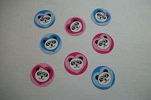 50 Precut Panda Love Hearts Bottle Cap Images 1in
