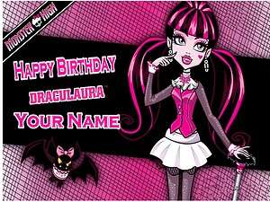 Monster High   Draculaura   Edible Photo Cake Topper  $3ship
