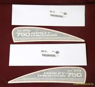HARLEY DAVIDSON XR 750 XR750 TANK DECALS TRANSFERS PAIR
