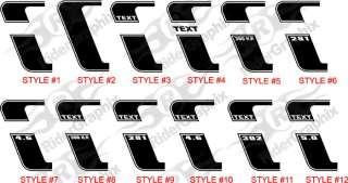 2010 & Up Ford Mustang Stripe Kit Stripes Reverse C