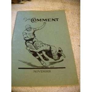 The Comment November 1922 (Cretin Hi, St. Paul): Raymond Mock
