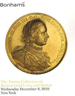 Tsarina Collection of Russian Gold Coins & Medals Dec. 2010