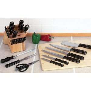 Slitzer™ 16pc Cutlery Set in Wood Block: Kitchen & Dining
