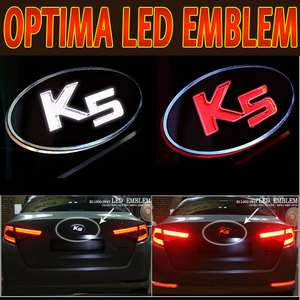 2011+ Kia Optima ★ K5 Logo LED Emblem 1set 2p(Front & Rear) Tail