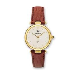 Ladies Kremena Gold Plated Case White Dial Swiss Watch