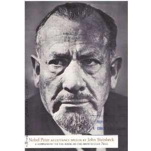 Nobel Prize For Literature John Steinbeck speech in literature o...