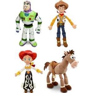 Plush 4 Doll Gift Set Including 17 Buzz Lightyear, 18 Sheriff Woody