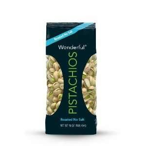 Wonderful Pistachios Roasted Pistachios (No Salt), 16 Ounce
