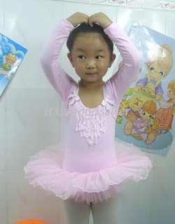 Girl New Dance Leotard Ballet Tutu Skate Dress SZ 2 8Y