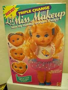 2211 NIB Vinage Mael Lil Miss Makeup riple Change Doll  