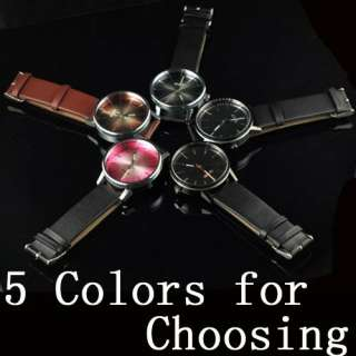 Elegant SINOBI Glass Colorful Dial Men Lady Wrist Watch