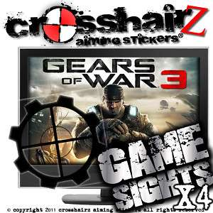 GEARS OF WAR 3 AIMING PERK XBOX 360 PS3 4 PACK