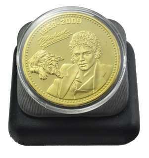 24K Gold Plated Commemorative Michael Jackson Coin Collectible
