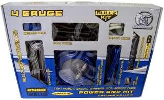 bullz audio spak4bl 4 gauge amplifier amp wiring kit new 2500 watts